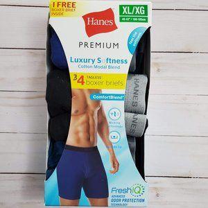 Hanes Premium Luxury Softness Boxer Briefs XL NWT
